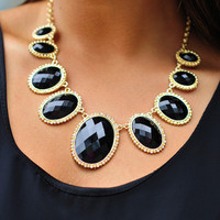 River Bottom Necklace: Black/Gold | Hope&#x27;s