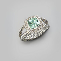 David Yurman - Prasiolite, Diamond & Sterling Silver Ring