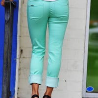 Color Me Skinny Jeans: Wintergreen | Hope's