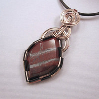 Wire Wrapped Jasper Pendant Minnesota Jasper by UptightWanda