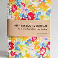 All Year Round Timeless Journal (Self filled dates, months & years, fabric wrapped) - Summer Splash