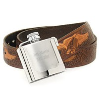 Belt Buckle Liquor Flask (Engravable)