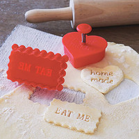 &#x27;Home Made&#x27; Or &#x27;Eat Me&#x27; Stamp Cookie Cutter