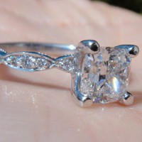 Have You Seen the Ring?: GIA Cushion Cut 0.97ct G VS1 Tacori Engagement Ring