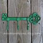 Cast Iron Hook /Classic Green Metal Key Hook by AquaXpressions