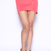 High Low Back Tied Skirt