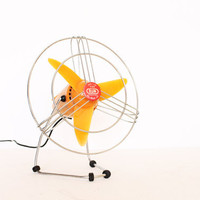 Vintage retro tangerine tango orange 50s fan by bjm home decor