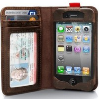 Apple iPhone 4 / 4s Leather Read BookBook Case