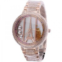 Diamond-studded Iron Tower Luxury Ladies Watch