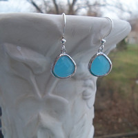 Blue Dangle Earrings - Robins Egg Blue - Stunning