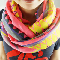 Ethnic Geometry Print Scarf