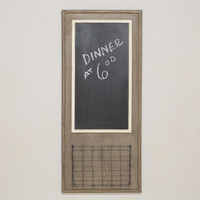 Chalkboard with Wire Basket