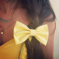 yellow hair bow (S-N-008)