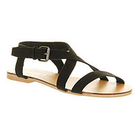 Office IBIZA TOWN BLACK LEATHER Shoes - Womens Sandals Shoes - Office Shoes