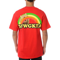 Odd Future Rainbow Cat Red Tee Shirt