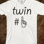 Twin # 1 - eli - Skreened T-shirts, Organic Shirts, Hoodies, Kids Tees, Baby One-Pieces and Tote Bags