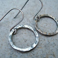 Small Silver Hoop Earrings Fine Silver Simple Hoops