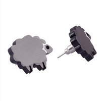 Black Sheep Stud Earrings,Plexiglass Jewelry,Lasercut Acrylic,Gifts Under 25