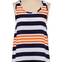 Striped Bow Back Tank