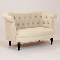 Erin Cute-as-a-Button Loveseat