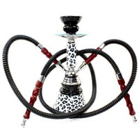 Never Exhale 11&quot; Premium 2 Hose Hookah Shisha Complete Set - Cheetah Leopard Tiger Animal Skin Art - Choose Your Beast (White Snow Leopard):Amazon:Health &amp; Personal Care