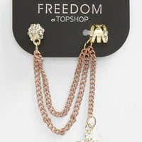 Topshop Rhinestone &amp; Cross Ear Cuff | Nordstrom