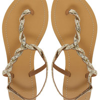 ASOS | ASOS FLASH Flat Sandals with Glitter Detail at ASOS
