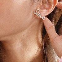 Love Cursive Earring's Gold & Silver from Purty Products