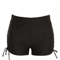 Black Side Cinch Shorts | 40% Off Select Styles