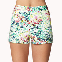 Tropical Floral Shorts | FOREVER 21 - 2036415828
