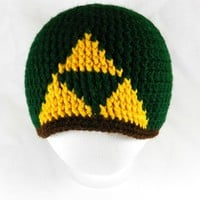 Adult/Teen Triforce Beanie PDF Pattern from YarnMama84