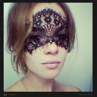 Lace Face Mask  Perfect for Masquerade Ball Mardi by MSaHeadbands
