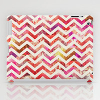 FLORAL CHEVRON iPad Case by Bianca Green
