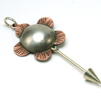 Interchangeable Pendant Flower Mixed Metal