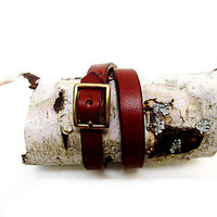 Leather Bracelet / Double Wrap Bracelet / Made in USA