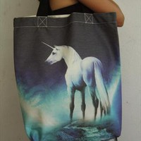 Unicorn horse shopping bag canvas tote bag messenger cotton  from sabinashop
