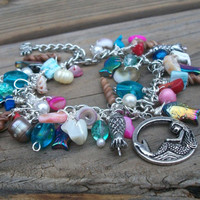 Bracelet I LOVE the SEA Charm Bracelet by BirdysNest on Etsy
