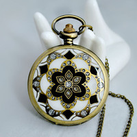 Pocket watch necklace BZ48 by fenasd99321 on Etsy
