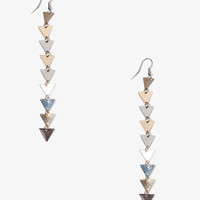 Linked Triangle Dangle Earrings