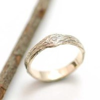 Gold Love Knot Tree Bark Ring by bcyrjewelry on Etsy