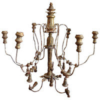 One Kings Lane - A Vintage Marine Mood - French Candlestick Chandelier