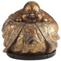 Antiqued Gold Happy Buddha