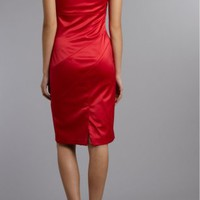 Red Sheath Knee-length One Shoulder Dress [4244714] - $87.00 : dressoutletstore.co.uk, Wedding Dresses Outlet