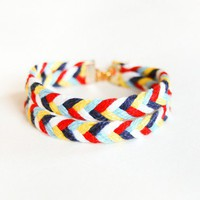 Double Happiness Braided Bracelet  Custom Made to by AmprisLoves