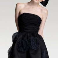 Black Sheath Short Strapless Dress [6737605] - $96.00 : dressoutletstore.co.uk, Wedding Dresses Outlet
