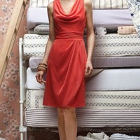 Burgundy A-line Knee-length V-neck Dress [6008219] - $76.00 : dressoutletstore.co.uk, Wedding Dresses Outlet