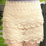 Sweet Lace Cake Mini Skirts For Summer from Summer Journey