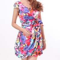 Flower Silk Dress