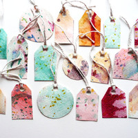 17 Double Sided Watercolour Gift Tags