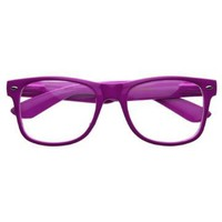 Retro Party Super Neon Color Horn Rimmed Style Eyeglasses Clear Lens Glasses